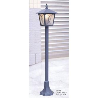 ITALUX 25415 | Lazio-IT Italux álló lámpa 97,8cm 1x E27 IP44 antikolt réz, áttetsző