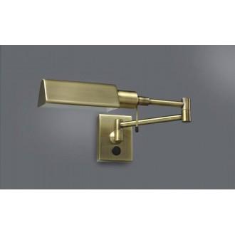 ITALUX 3101/1 ANT.BRAS | Senti Italux falikar lámpa elforgatható alkatrészek 1x E14 sárgaréz, fekete