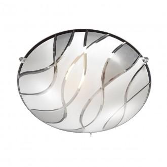 ITALUX C29367YK-2 | Naomi-IT Italux mennyezeti lámpa 1x E27 króm, fehér, áttetsző