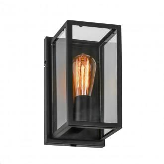 ITALUX MB-402621-1-B | Laverno Italux fali lámpa 1x E27 fekete, átlátszó