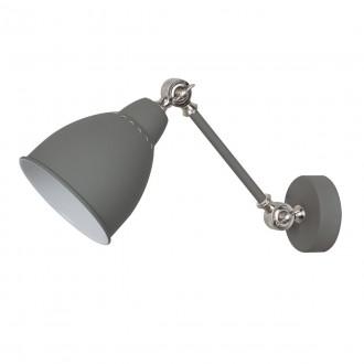 ITALUX MB-HN5010-1-GR | Sonny Italux fali lámpa 1x E27 szürke, króm