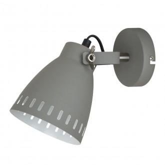 ITALUX MB-HN5050-1-GR+S.NICK | Franklin Italux falikar lámpa elforgatható alkatrészek 1x E27 matt szürke, matt króm