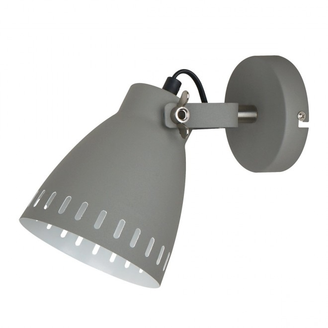ITALUX MB-HN5050-1-GR+S.NICK   Franklin Italux falikar lámpa elforgatható alkatrészek 1x E27 matt szürke, matt króm