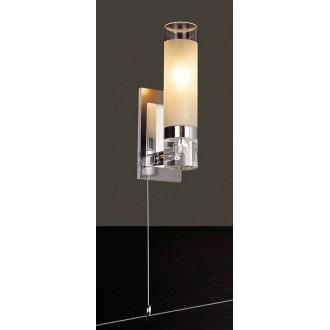 ITALUX MB030101-1C | Hook-IT Italux fali lámpa húzókapcsoló 1x E14 króm, fehér