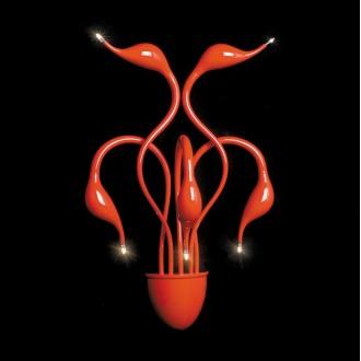 ITALUX MB8098-5A RED | Swan-IT Italux fali lámpa 5x G4 3000K piros