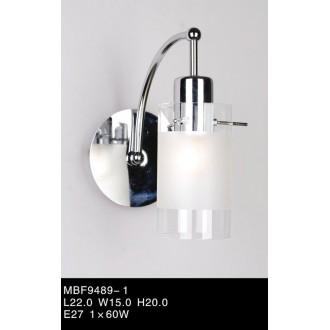 ITALUX MBF9489/1 | Blend Italux falikar lámpa 1x E27 króm, fehér