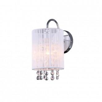 ITALUX MBM1787/1 WH | Lana-IT Italux fali lámpa 1x E14 króm, fehér, átlátszó