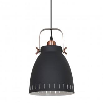 ITALUX MD-HN8026M-B+RC | Franklin Italux függeszték lámpa 1x E27 vörösréz, fekete