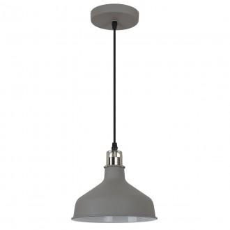 ITALUX MD-HN8049M-GR+S.NICK | Hooper Italux függeszték lámpa 1x E27 matt szürke, króm