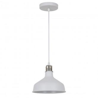 ITALUX MD-HN8049M-WH+S.NICK | Hooper Italux függeszték lámpa 1x E27 matt fehér, króm