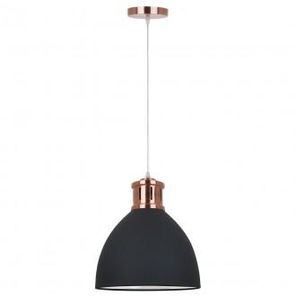 ITALUX MD-HN8100-B+RC | Lola-IT Italux függeszték lámpa 1x E27 vörösréz, fekete, fehér