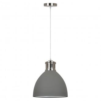 ITALUX MD-HN8100-GR+S.NICK | Lola-IT Italux függeszték lámpa 1x E27 matt szürke, króm