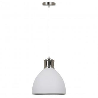 ITALUX MD-HN8100-WH+S.NICK | Lola-IT Italux függeszték lámpa 1x E27 matt fehér, króm