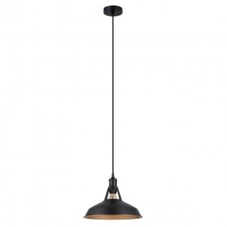ITALUX MDM-2315/1 M BK+GD | Freya-IT Italux függeszték lámpa 1x E27 fekete, matt arany