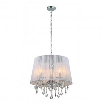 ITALUX MDM-2572/5 W | Cornelia-IT Italux függeszték lámpa 5x E14 króm, fehér, átlátszó