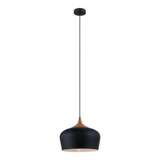 ITALUX MDM-2681/1M BK | Britta-IT Italux függeszték lámpa 1x E27 fekete, barna