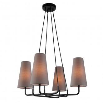 ITALUX MDM-3542/4 BK+DRG | Primo-IT Italux függeszték lámpa 4x E14 fekete, szürke