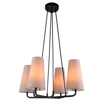 ITALUX MDM-3545/4 BK+LIGHT GR | Primo-IT Italux függeszték lámpa 4x E14 fekete, szürke
