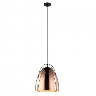 ITALUX MDM3346/1 COP | Zilla Italux függeszték lámpa 1x E27 réz, fekete