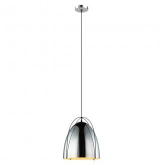 ITALUX MDM3346/1 CR | Zilla Italux függeszték lámpa 1x E27 króm, fekete