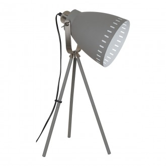 ITALUX ML-HN2278-GR+S.NICK | Franklin Italux asztali lámpa 54cm kapcsoló elforgatható alkatrészek 1x E27 matt szürke, matt króm