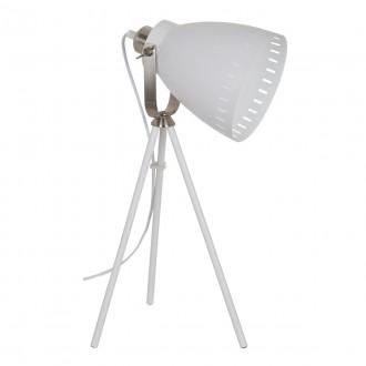 ITALUX ML-HN2278-WH+S.NICK | Franklin Italux asztali lámpa 54cm kapcsoló elforgatható alkatrészek 1x E27 matt fehér, matt króm