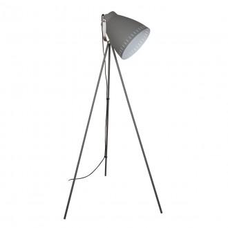 ITALUX ML-HN3068-GR+S.NICK | Franklin Italux álló lámpa 144,5cm kapcsoló elforgatható alkatrészek 1x E27 matt szürke, matt króm