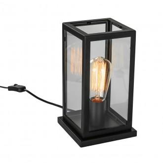 ITALUX MT-202621-1-B   Laverno Italux asztali lámpa 26,5cm vezeték kapcsoló 1x E27 fekete, átlátszó