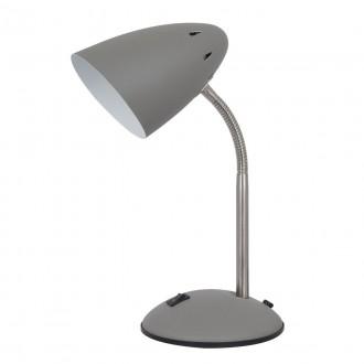 ITALUX MT-HN2013-GR+S.NICK | Cosmic-IT Italux asztali lámpa 30cm kapcsoló flexibilis 1x E27 szürke, matt nikkel