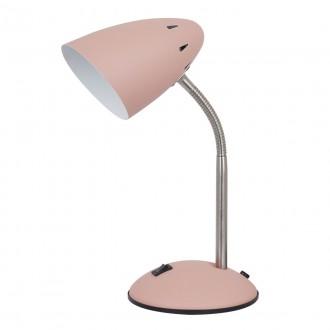 ITALUX MT-HN2013-PINK+S.NICK | Cosmic-IT Italux asztali lámpa 30cm kapcsoló flexibilis 1x E27 rózsaszín, matt nikkel