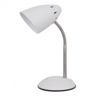 ITALUX MT-HN2013-WH+S.NICK | Cosmic-IT Italux asztali lámpa 30cm kapcsoló flexibilis 1x E27 fehér, matt nikkel