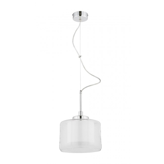 JUPITER 1082 TD 1 | Tood Jupiter függeszték lámpa 1x E27 króm, fehér, átlátszó