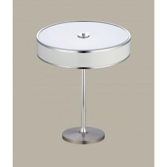 JUPITER 1225 JA G B   Jazz Jupiter asztali lámpa 47cm vezeték kapcsoló 2x E14 fehér, króm