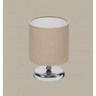 JUPITER 1272 BT L | BostonJ Jupiter asztali lámpa 25cm vezeték kapcsoló 1x E27 króm, wenge, kapucsínó
