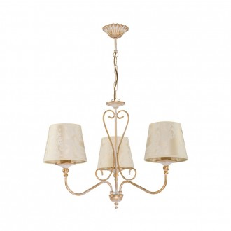 JUPITER 1591 SI 3 EC | Sofia Jupiter csillár lámpa 3x E27 ekrü, arany