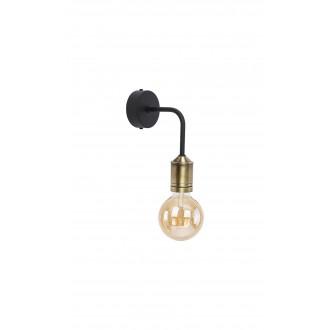 JUPITER 1707 BN K PAT/CZ | Borneo Jupiter falikar lámpa 1x E27 sárgaréz, fekete