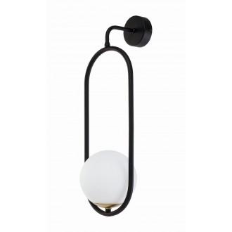 JUPITER 1729 IG K CZ | Igon Jupiter falikar lámpa 1x E14 sárgaréz, fekete, fehér