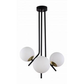 JUPITER 1732 TI 3 CZ/MS | Tim Jupiter mennyezeti lámpa 3x E14 sárgaréz, fekete, fehér