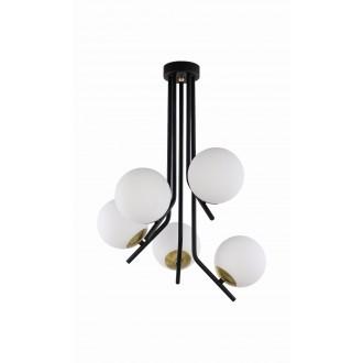 JUPITER 1733 TI 5 CZ/MS | Tim Jupiter mennyezeti lámpa 5x E14 sárgaréz, fekete, fehér