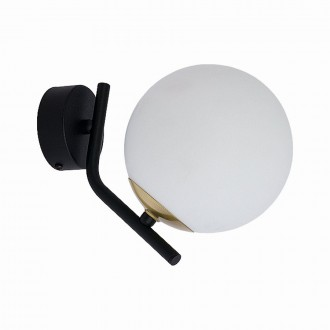 JUPITER 1734 TI K CZ/MS | Tim Jupiter falikar lámpa 1x E14 sárgaréz, fekete, fehér