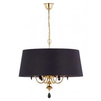 JUPITER 1796 EG 6 MS   Egida Jupiter függeszték lámpa 6x E27 szatén sárgaréz, fekete