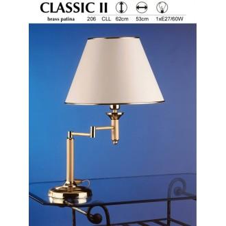 JUPITER 206 CLL | ClassicJ Jupiter asztali lámpa 56cm vezeték kapcsoló elforgatható alkatrészek 1x E27 szatén réz, ekrü