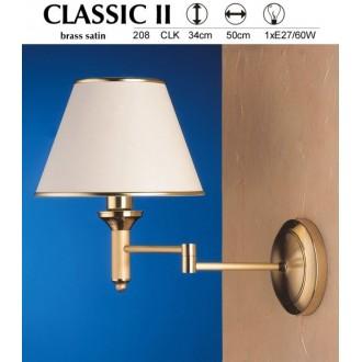 JUPITER 208 CLK | ClassicJ Jupiter falikar lámpa elforgatható alkatrészek 1x E27 szatén réz, ekrü