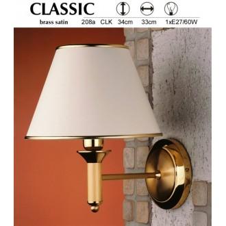 JUPITER 208A CLK | ClassicJ Jupiter falikar lámpa 1x E27 szatén réz, ekrü