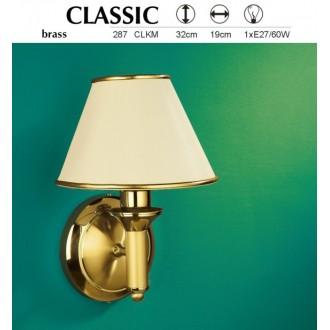 JUPITER 287 CLK-M | ClassicJ Jupiter falikar lámpa 1x E27 sárgaréz, ekrü