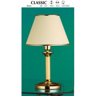 JUPITER 288 CL-N | ClassicJ Jupiter asztali lámpa 44cm vezeték kapcsoló 1x E27 sárgaréz, ekrü