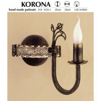 JUPITER 319 KOK-1   KoronaJ Jupiter falikar lámpa 1x E14 antikolt bronz