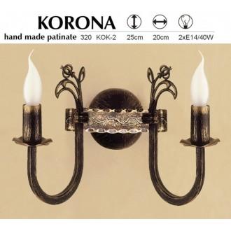 JUPITER 320 KOK-2 | KoronaJ Jupiter falikar lámpa 2x E14 antikolt bronz