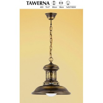 JUPITER 403 TA 1 P | Tawerna Jupiter függeszték lámpa 1x E27 patinás réz