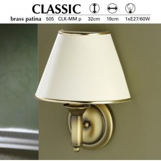 JUPITER 505 P.CLKM | ClassicJ Jupiter falikar lámpa 1x E27 patinás réz, krémszín